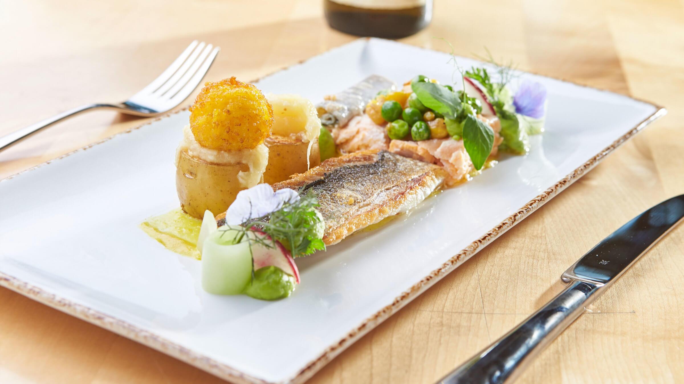 Fischgerichte im Gasthaus Pflegerbrücke in Grödig bei Salzburg