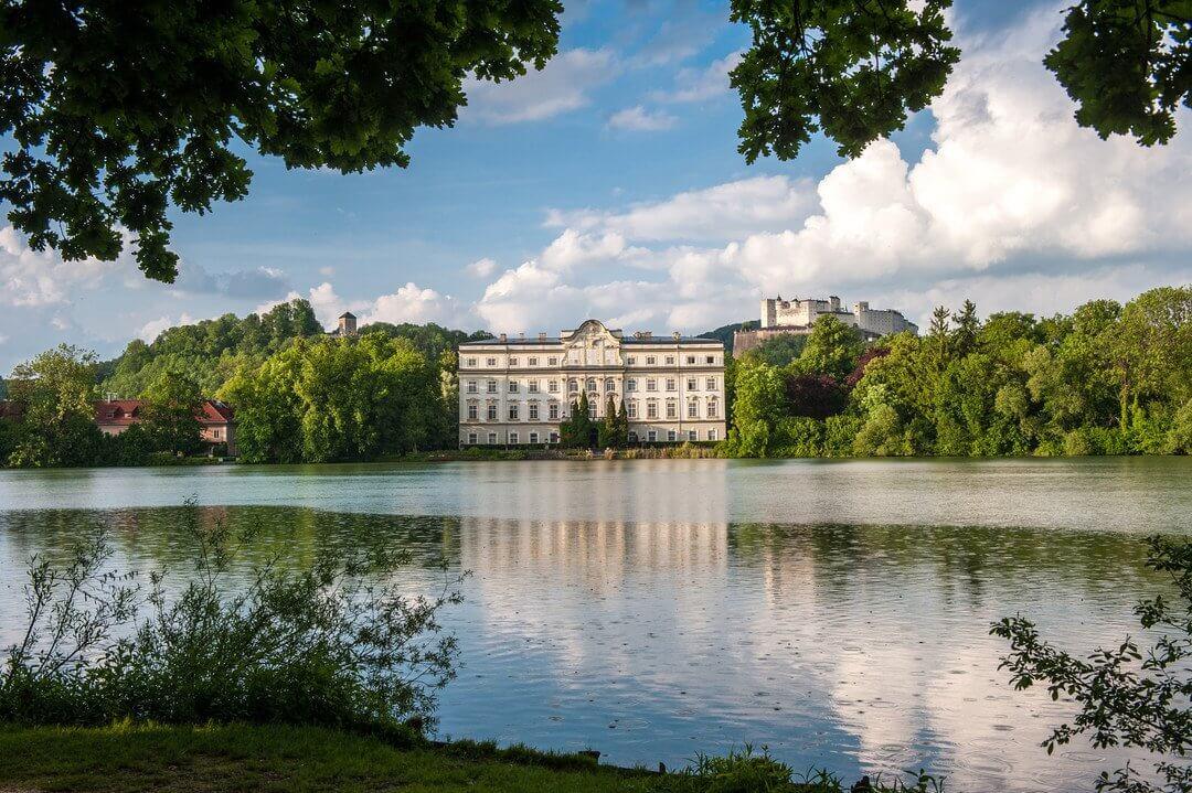 Schloss Leopoldskron, Stadt Salzburg, Ausflugsziel, Kinder, Familie, Urlaub, Salzburger Land, Pflegerbrücke Salzburg